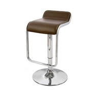 "Omega ""Leather"" Contemporary Adjustable Barstool"