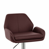 "Tesla Contemporary ""Leather"" Adjustable Barstool"