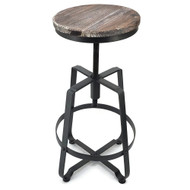 Turner Retro Contemporary Steel/Wood Barstool