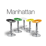 Manhattan Contemporary Adjustable Barstool