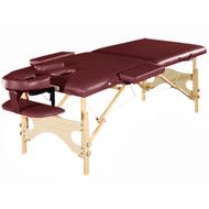 Tranquility Deluxe Portable Folding Massage Table w/5 Bonus Items