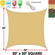Modern Home Sail Shade Rectangle (30' x 30')