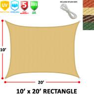 Modern Home Sail Shade Rectangle (10' x 20')