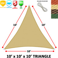 Modern Home Sail Shade Triangle (10' Sides)
