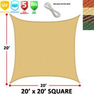 Modern Home Sail Shade Rectangle (20' x 20')