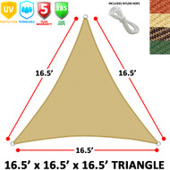 Modern Home Sail Shade Triangle (16.5' Sides)