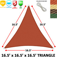Modern Home Sail Shade Triangle (18' Sides)