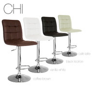 "Chi Contemporary ""Leather"" Adjustable Barstool"