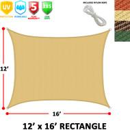 Modern Home Sail Shade Rectangle (16' x 12')