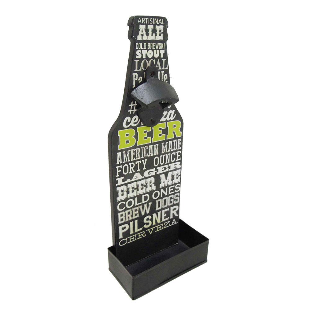 Modern Home Wall Mounted Bottle Opener W Cap Catcher Chalk Beer Vandue