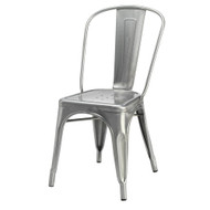 Set of 4 Cassandra Contemporary Steel Stackable Tolix-Style Dining Chair - Gunmetal