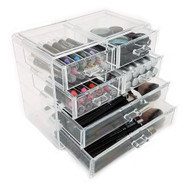 OnDisplay Cosmetic Makeup and Jewelry Storage Case Display - 6 Drawer Tiered Design - Perfect for Vanity, Bathroom Counter, or Dresser