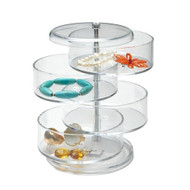 OnDisplay Cosmetic Makeup and Jewelry Storage Tower - 4 Drawer Tiered Design - Perfect for Vanity, Bathroom Counter, or Dresser