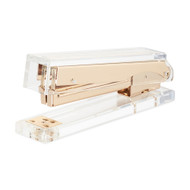 OnDisplay Luxe Acrylic Clear and Metallic Gold Stapler
