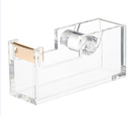 OnDisplay Luxe Acrylic Clear and Metallic Gold Tape Dispenser