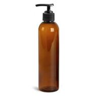 Royal Massage 8oz Bullet Round Massage Oil/Lotion/Liquid Bottle with Saddle Pump