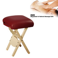 MT Wooden Handy Stool - Burgundy