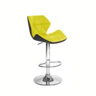 Set of 2 Modern Home Spyder Contemporary Adjustable Barstool - Comfortable Adjusting Height Counter/Bar Stool (Black/Yellow)