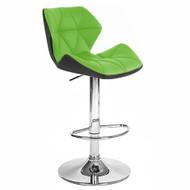 Set of 2 Modern Home Spyder Contemporary Adjustable Barstool - Comfortable Adjusting Height Counter/Bar Stool (Black/Lime)