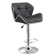 Set of 2 Spyder Contemporary Adjustable Barstool - Modern Comfortable Adjusting Height Counter/Bar Stool (White/Black)