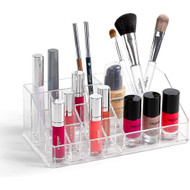 OnDisplay Annie Deluxe Acrylic Cosmetic/Jewelry Organization Tray