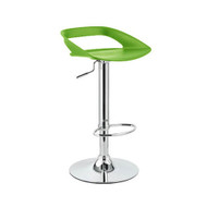 Set of 4 Chi Contemporary Adjustable Barstool - Lime Green