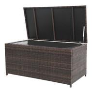 Modern Home Wicker Cove Weatherproof Outdoor Rattan Storage Box w/ Liner