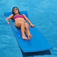 California Sun Deluxe Oversized Unsinkable Triple Ply Foam Cushion Pool Float - Ocean Blue