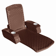 California Sun Deluxe Unsinkable La Jolla Lounger - Foam Cushion Pool Chair - Chocolate