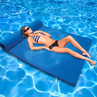 California Sun Deluxe Oversized 2-Person Unsinkable Triple Ply Foam Cushion Pool Float - Ocean Blue