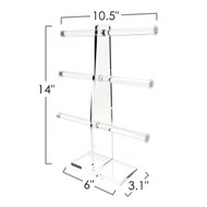 OnDisplay 3 Tier Acrylic Bracelet T-Bar Tree Stand