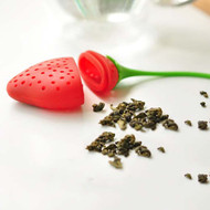 Modern Home Strawberry Silicone Loose Tea Infuser - Brew Tea in Food Grade Easy-to-Use Silicone Tea Leaf Holder