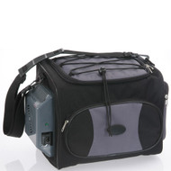 Fridge2Go 12L Portable Soft Sided Cooler Bag w/12V AC & DC Chargers - Black/Gray