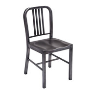 Navy Contemporary Steel Dining Chair