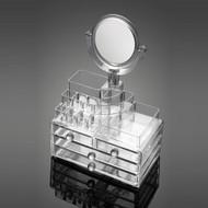 OnDisplay Jesse Tiered Acrylic Cosmetic/Makeup Organizer w/Mirror