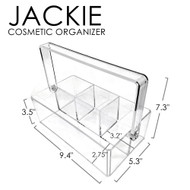 OnDisplay Jackie Deluxe Acrylic Cosmetic/Hair Product Organization Caddy