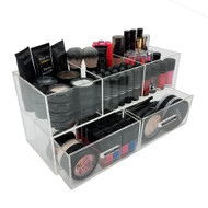 OnDisplay Andrea Deluxe Acrylic Cosmetic/Jewelry Organization Station w/Geode knobs