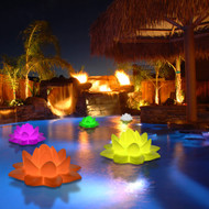 Modern Home Deluxe Floating LED Glowing Lotus Flower w/Infrared Remote Control