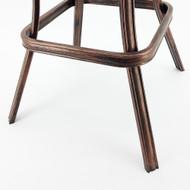 Set of 4 Neptune Rotating Adjustable Height Cast Aluminum Outdoor Chair/Bar Stool