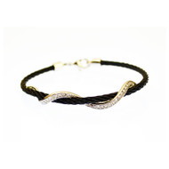 Kabl Stackable Twisted Stainless Steel Cable Bangle Bracelet - Serpente