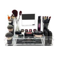 OnDisplay Alexa Acrylic Cosmetic/Makeup Organizer w/Mirror