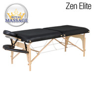 Zen Elite Professional Oversized Portable Folding Massage Table w/Bonuses - Charcoal Black