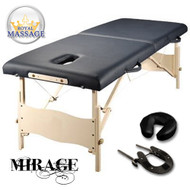 Mirage Elite Professional Oversized Portable Folding Massage Table w/Bonuses - Chocolate Brown