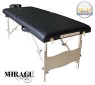 Mirage Elite Professional Oversized Portable Folding Massage Table w/Bonuses - Chocolate Brown