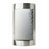 Modern Home Stainless Steel Wall Waterfall Fountain w/Mirror Inset - Indoor/Outdoor W5