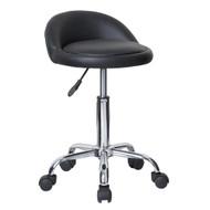 Set of 2 Juno Adjustable Height Massage Stool w/Wheels - Black