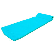 "California Sun Deluxe 1.5"" Dimpled Ultra Thick Oversized Unsinkable Ridged Foam Pool Float - Aquamarine"