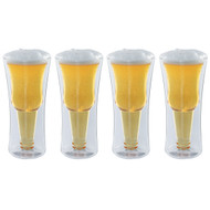 Modern Home Inverso Double Wall Borosilicate Inverted Beer Glass - Set of 4