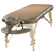Concord Elite Professional Oversized Portable Massage Table w/Bonuses - Reiki Panel BabySoft Leather Ultra Quiet Treatment therapy Table (Otter)