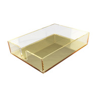 OnDisplay Luxe Acrylic Notepad Tray - Gold Mirror